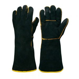 Black & Gold Welder Gauntlets CS09/P038